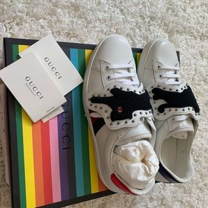 Gucci Ace Sneaker with Jaguar Removable Patches